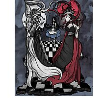 Alice and her Queens: The Checkered Board Photographic Print