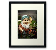 Doodlethumb the Garden Gnome Framed Print