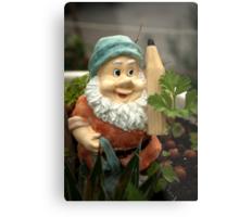 Doodlethumb the Garden Gnome Metal Print