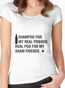 Sham-Poo (Black Text) Women's Fitted Scoop T-Shirt