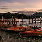 Derwent Water Boats in the evening light by leephotoofyork