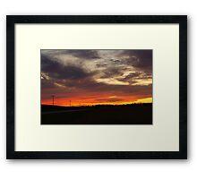 Sunset over Hickory Hills Framed Print