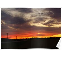 Sunset over Hickory Hills Poster