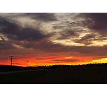 Sunset over Hickory Hills Photographic Print