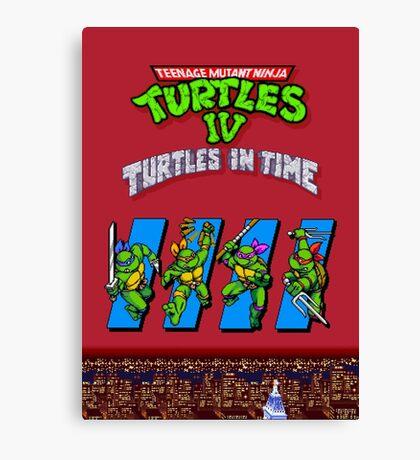 TMNT Turtles in Time Canvas Print