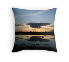 Sunset Reflection at Kirkstead Abbey Throw Pillow
