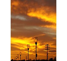 Fire In The Sky. Photographic Print