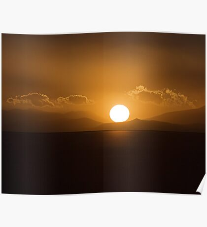 Sunset On The Salar Poster