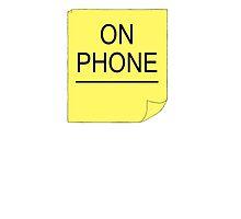 'On Phone' Black Books by ClimbTheIvy
