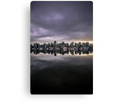 Mirror city if Vancouver Canvas Print