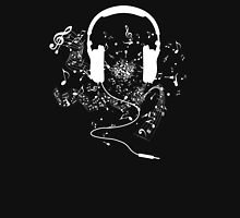 Headphones and music notes white T-Shirt