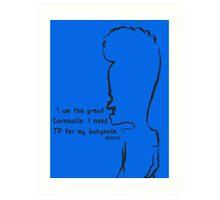 Beavis - 'The Great Cornholio' Art Print
