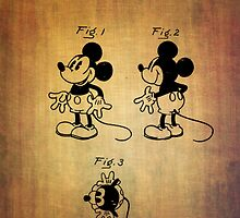 Mickey Mouse Patent from 1930 by Eti Reid