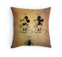 Mickey Mouse Patent from 1930 Throw Pillow