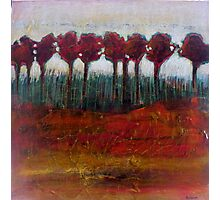Fall Evening in the Forest, mixed media on canvas Photographic Print