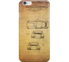 Ferdinand Porshe Patent For Carrera 911 From 1964 iPhone Case/Skin