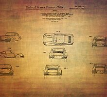Ferdinand Porshe Patent For Carrera 911 From 1964 by Eti Reid