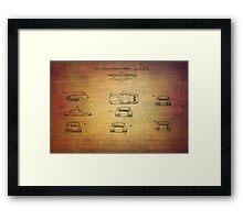 Ferdinand Porshe Patent For Carrera 911 From 1964 Framed Print