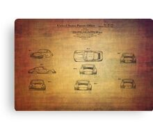 Ferdinand Porshe Patent For Carrera 911 From 1964 Canvas Print
