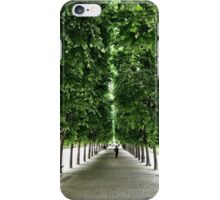 Tree lined park iPhone Case/Skin