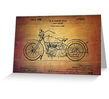 Harley Davidson Patent From 1928 Greeting Card