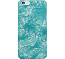 Circle of Leafs - Turquoise iPhone Case/Skin