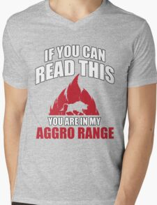 If you can read this you are in my aggro range Mens V-Neck T-Shirt