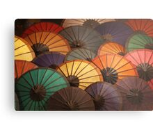 Umbrellas - Luang Prabang Night Market, Laos. Views: 1034 @ 10/11/10 Metal Print