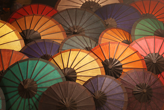 Umbrellas - Luang Prabang Night Market, Laos. Views: 1034 @ 10/11/10 by timstathers