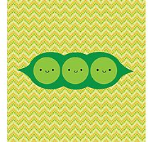 Kawaii Peas in a Pod Photographic Print