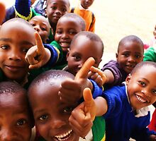 Thumbs Up - Mshiri Pre Primary students, Tanzania by timstathers