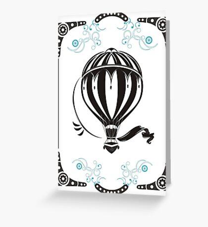 vintage hot air balloon  Greeting Card