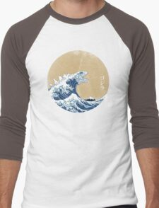 Hokusai Kaiju - Vintage Version Men's Baseball ¾ T-Shirt