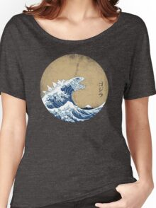 Hokusai Kaiju - Vintage Version Women's Relaxed Fit T-Shirt