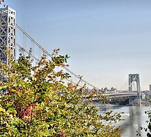 George Washington Bridge from Historic Park by joan warburton