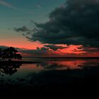 Nudgee Beach At Dawn. Brisbane, Queensland, Australia. by Ralph de Zilva