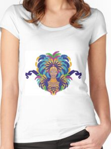 Beautiful carnival girl Women's Fitted Scoop T-Shirt