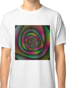 Spiral Labyrinth in Green Pink and Purple Classic T-Shirt