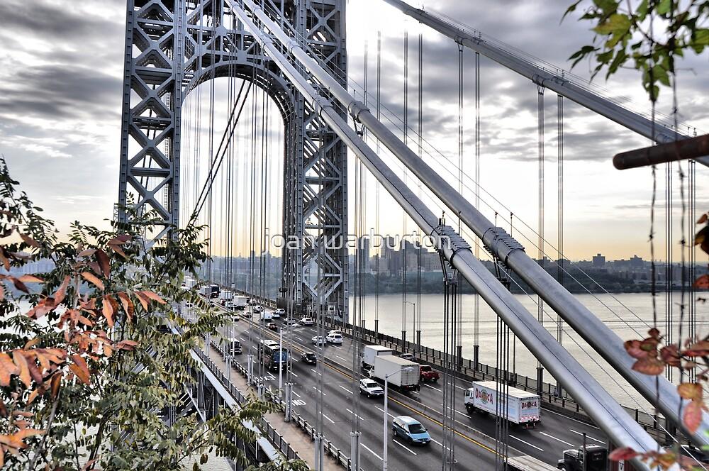 George Washington Bridge from Overlook Park by joan warburton