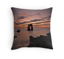 Sunset through Gaarda Stack, Foula Throw Pillow