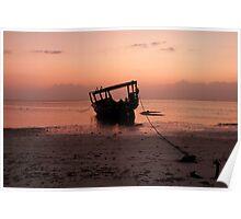 Morning colours - Zanzibar, West Africa Poster