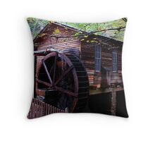 The Grist Mill at Hurricane Shoals Park Throw Pillow