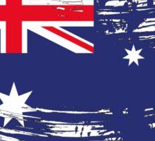 Australia Flag Brush Splatter Sticker