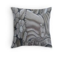 Peace Wall in Bisbee Throw Pillow