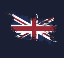 United Kingdom Flag Brush Splatter Baby Tee