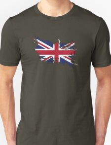 United Kingdom Flag Brush Splatter T-Shirt