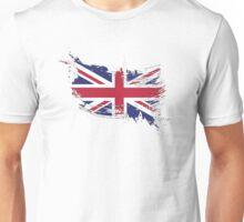 United Kingdom Flag Brush Splatter Unisex T-Shirt