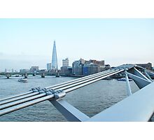 The Shard - view from the Millenium Bridge Photographic Print