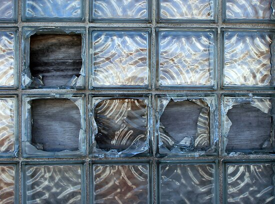 punched out window.... by Lynne Prestebak