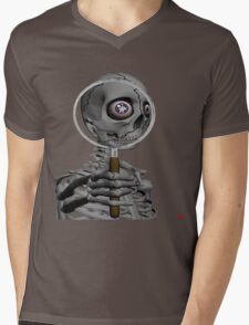 MAGNIFYING GLASS/ MESSAGE IN EYE Mens V-Neck T-Shirt